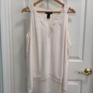 WHBM Sleeveless hi Lo blouse